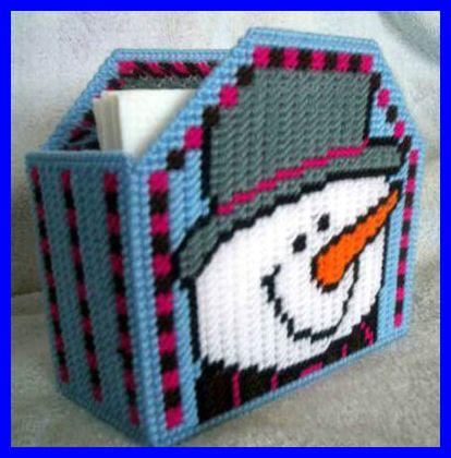1000 bilder om plastic canvas winter p pinterest for Snowman pocket tissues