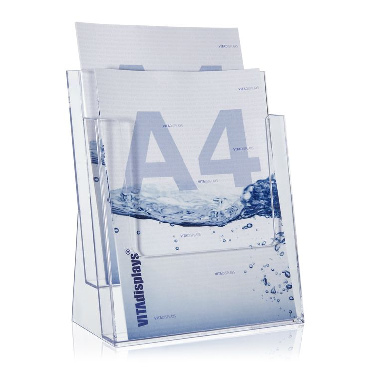 Ideal In diesem transparenten DIN A Prospektst nder der Marke Taymar lassen sich auf zwei Etagen doppelt so