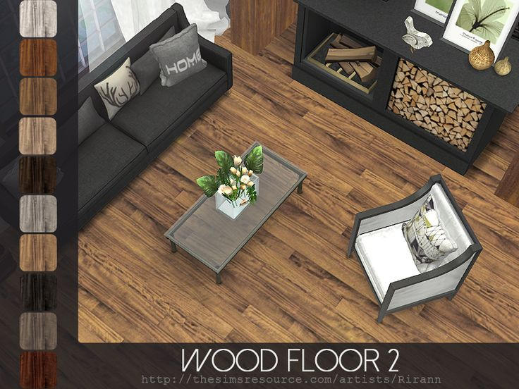Wood Floor 2 in 10 color variations. Found in TSR Category 'Sims 4 Floors'
