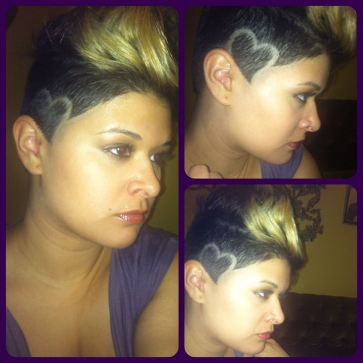 shaved pattern hairstyles for women - Google Search