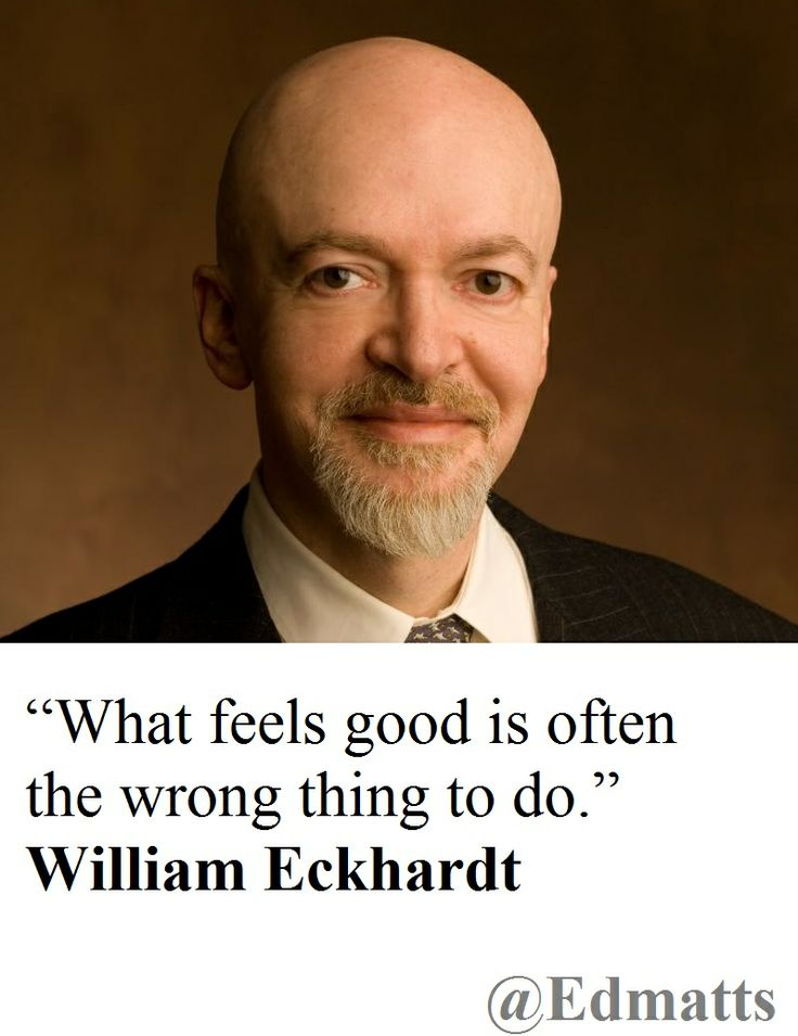 Great quote from William Eckhardt