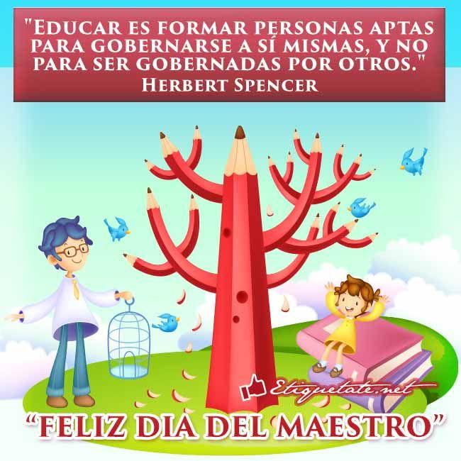 Frases y pensamientos celebres del día del Maestro con imágenes | http://etiquetate.net
