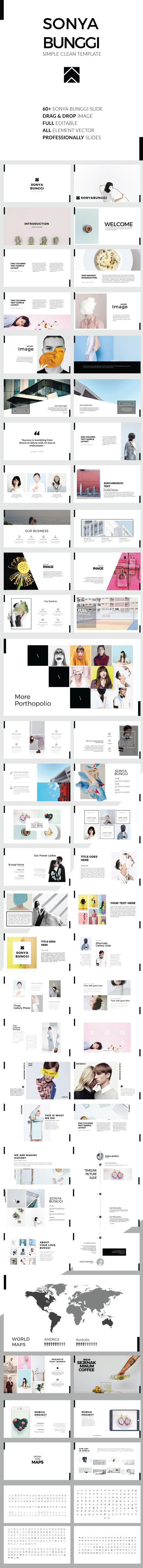Sonya Bunggi - Simple Clean Keynote Template - #Business #Keynote #Templates Download here: https://graphicriver.net/item/sonya-bunggi-simple-clean-keynote-template/19531439?ref=alena994