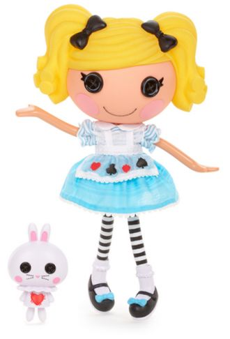 45. Alice in Lalaloopsyland Full Size Doll Sewn from Alice in Wonderland's Dress on June 12th (Red Rose Day) Pet Rabbit