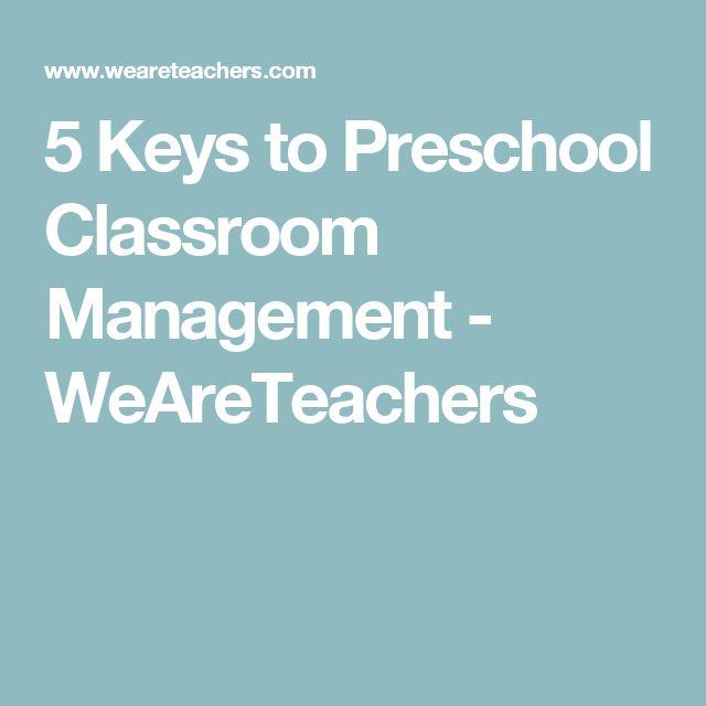 5 Keys to Preschool Classroom Management - WeAreTeachers