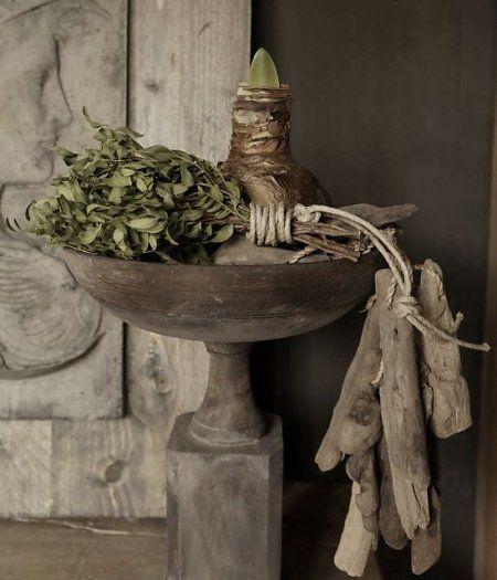 Ξύλινο μπολ στο περίπτερο ♡ ~Rustic Living ~GJ * Kijk ook eens op mijn blog: www.rusticlivingbygj.blogspot.nl