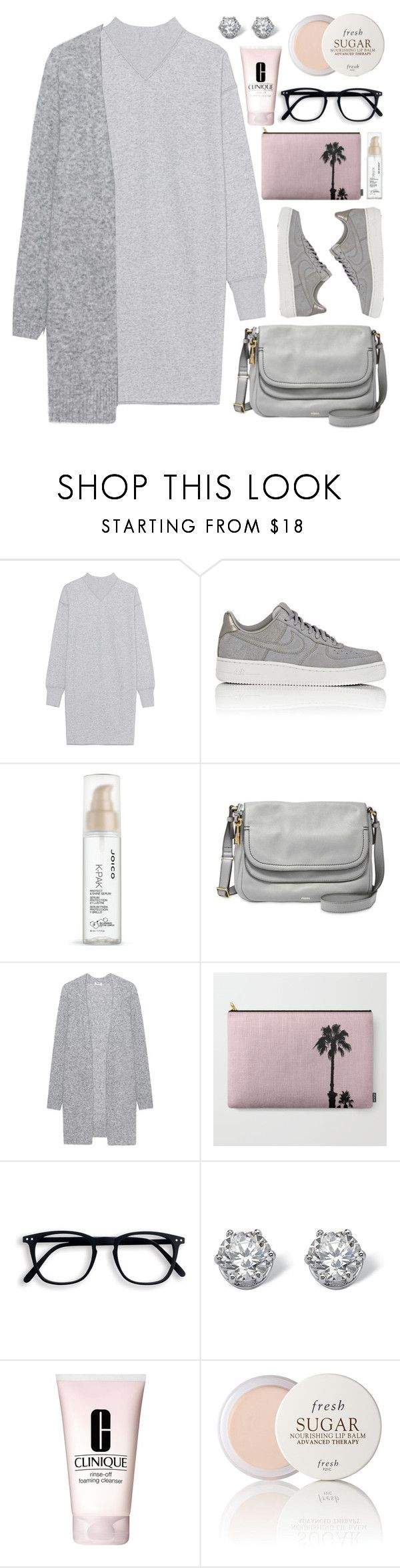 """""""OOTD - Grey Knitwear"""" by by-jwp ❤ liked on Polyvore featuring Étoile Isabel Marant, NIKE, Joico, FOSSIL, Acne Studios, Palm Beach Jewelry, Clinique and Fresh"""