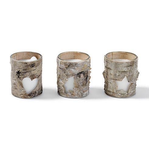 Dekoracyjne świeczki, 3 sztuki