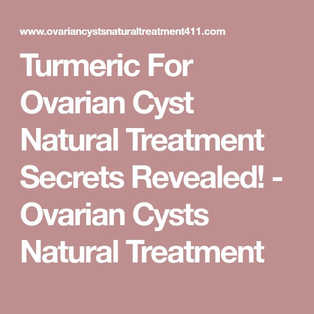 Turmeric For Ovarian Cyst Natural Treatment Secrets Revealed! - Ovarian Cysts Natural Treatment