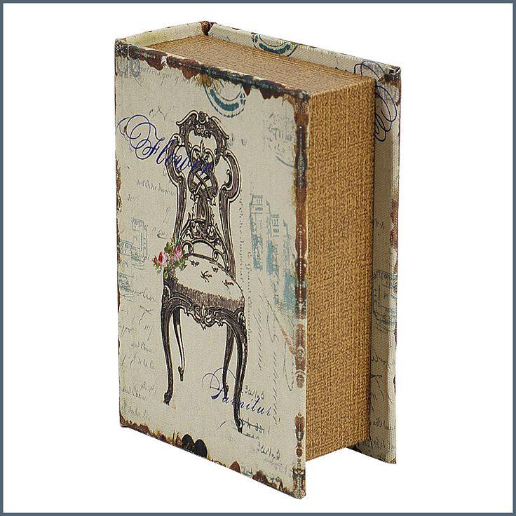 Könyv alakú vintage ékszer / tároló doboz fából  ― Hepi otthon
