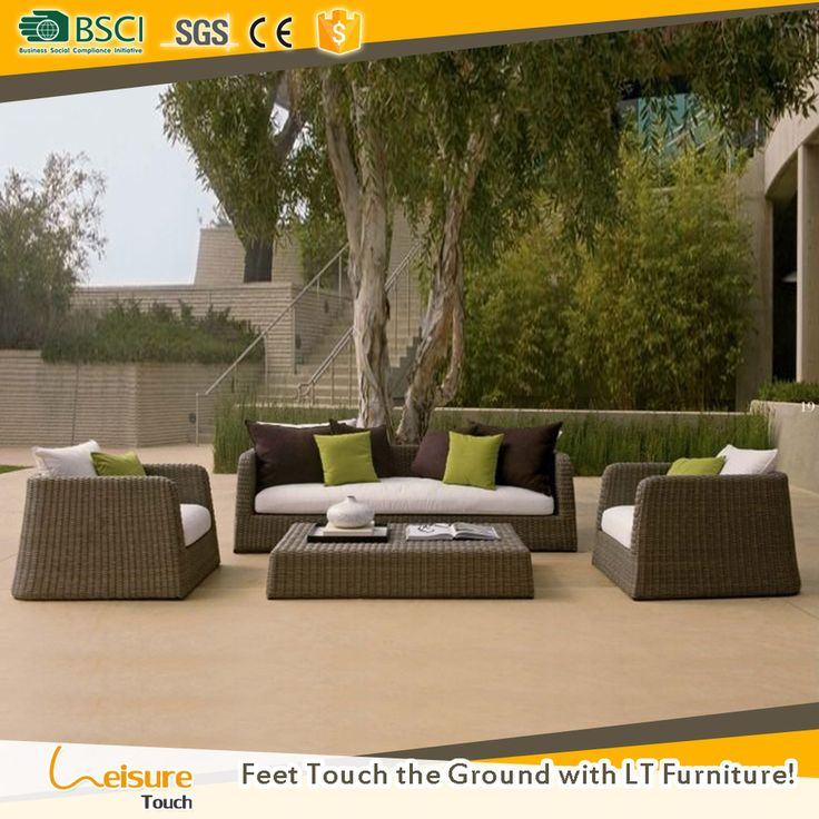 All weather garden gray rattan wicker outdoor furniture sofa set used patio sofa set furniture