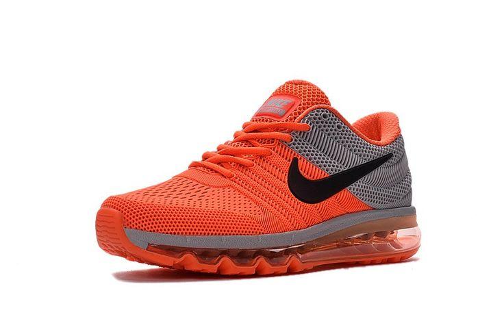 Nike Air Max 2017 Orange Grey Running Men Shoes Hot Sale