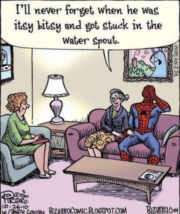 Embarrassing mother syndrome...Funny Things, Spiderman, Funny Quotes