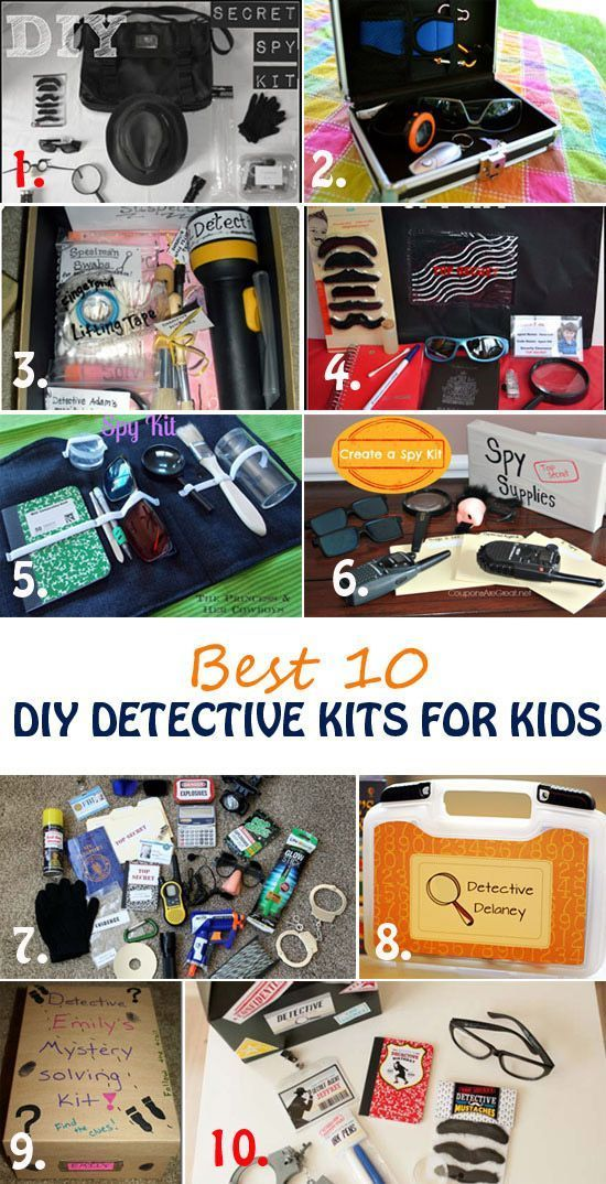 Learn what it takes to be a special agent and solve mysteries. Best 10 detective kits for kids for play, party favors or DIY gifts. Detective play pretend for girls and boys. Fun and educational activities for kids | at Non Toy Gifts