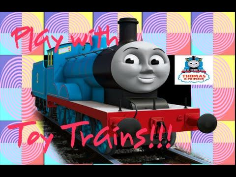 Play with THOMAS & FRIENDS toy trains THOMAS THE TANK ENGINE Maron stati...