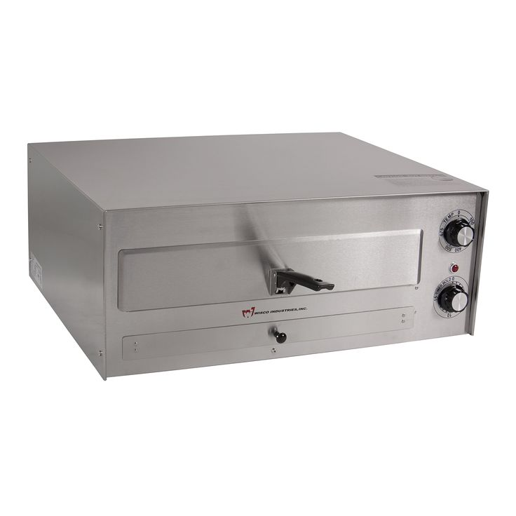 "Wisco 560E Counter Top Commercial Pizza Oven,  23.5"" x 17.5"" x 10.2"", Silver"