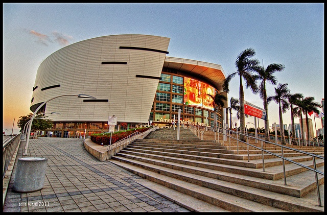 Miami's American Airlines Arena, Downtown (Miami, Florida)  http://celebhotspots.com/hotspot/?hotspotid=27523&next=1
