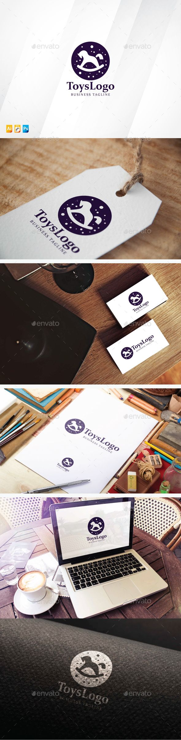 Toys Logo — Photoshop PSD #sweet #institute • Available here → https://graphicriver.net/item/toys-logo/13721794?ref=pxcr