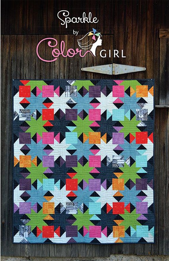Sparkle Quilt Pattern Charm Pack And Layer Cake Friendly Quilting