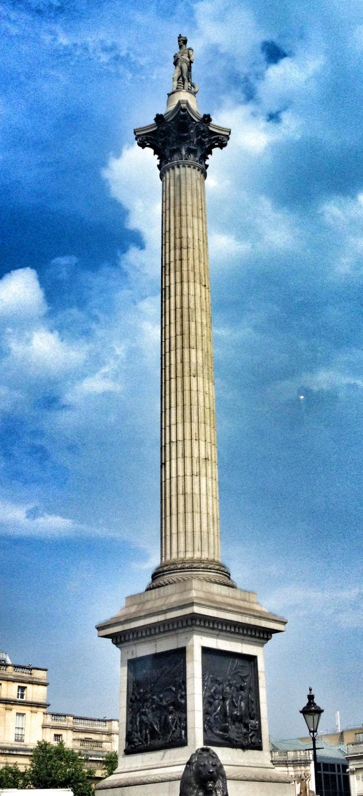 Nelson's Column - Trafalgar Square - shot from swerving cab avoiding Boris bikes.