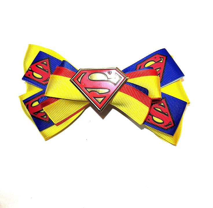 Superman Hair Bow by CharlieKnowsHairBows on Etsy