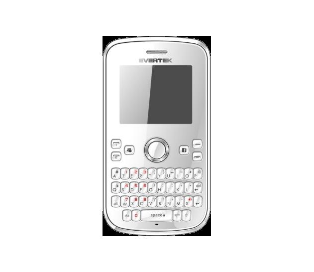Blanc ou Noir?  Le E510i existe en deux coloris, blanc ou noir, ce téléphone est Chic & Branché  Avec son clavier Azerty, son design fluide et intuitif, profitez des applis Evertek Facebook, Twitter et Email!  Un Azerty, Double Sim à 129DT!  Soyez branché, connecté, faites des économies gràce à la Technologie Double Sim d'Evertek... le tout sans casser votre tirelire!
