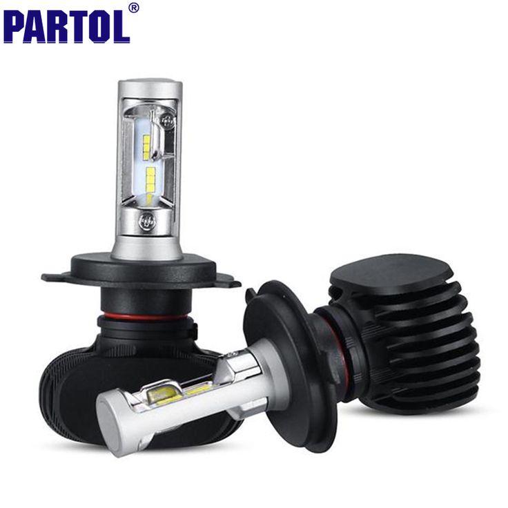 Partol S1 H11/H8/LM H9 CSP LED Reflektor Samochodowy Zestaw 50 W pojedyncze Beam CREE Chipy Samochodowe Reflektory Przeciwmgielne Światła Żarówki 12 V 6500 K