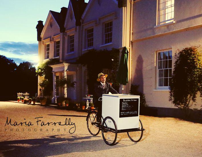 Vintage ice cream van at Felin Newydd House - weddings - www.countrypad.co.uk