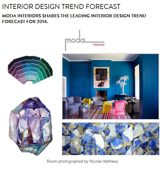 Guest Blog...Claremont Quarter website  Interior Trends 2013/14