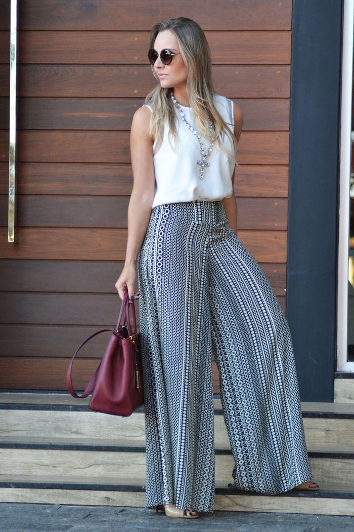 Look do dia: Calça pantalona | Layla Monteiro | Modelos Roupas de 2019 | Calça pantalona, Calça pantalona como usar e Calça pantalona listrada