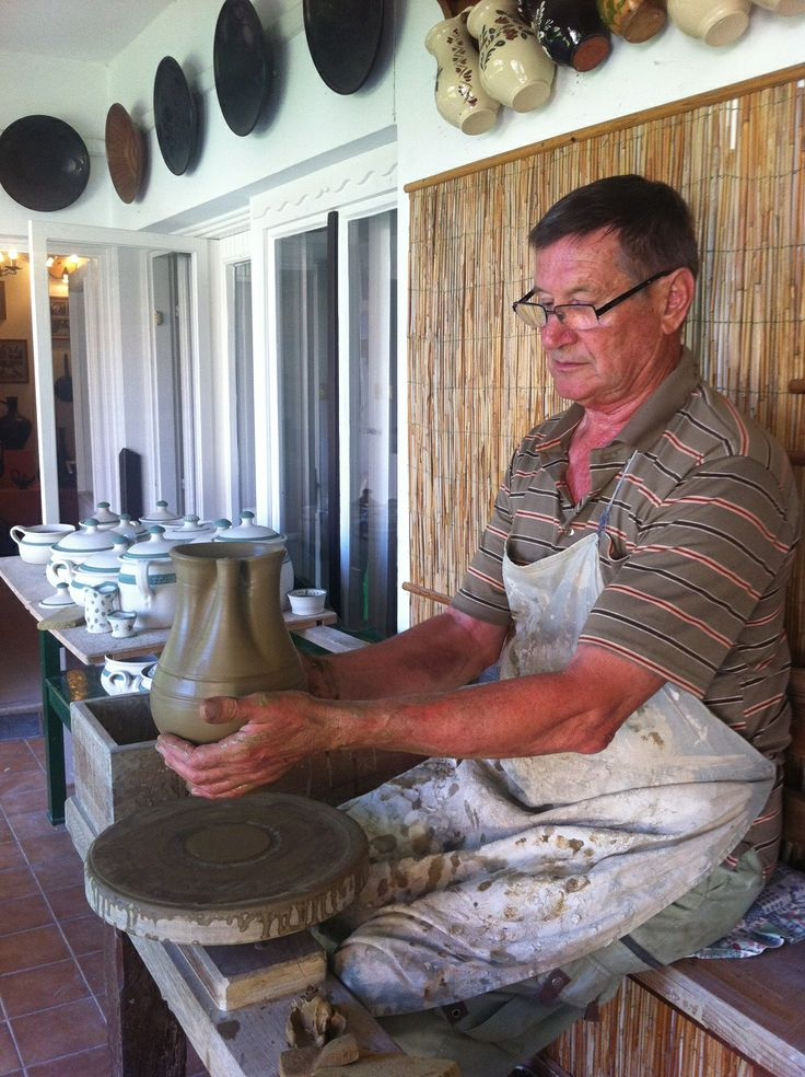 Meet the amazing Mr Lajos Fazekas, 9th generation black ceramic artist. Everything he crafts is done the old fashioned way...by hand and foot! Which is still how he powers his potter's wheel. Visit www.piroska.com.au to see PIROSKA's collection of his work.
