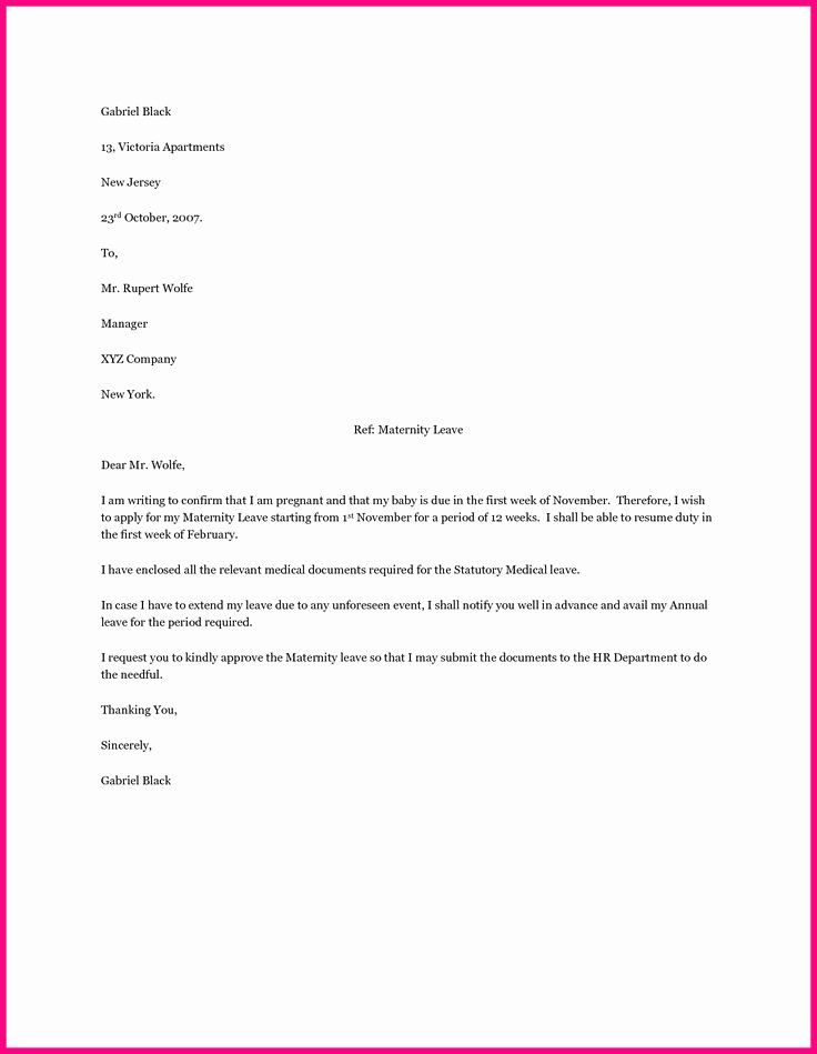 how to write a cover letter for maternity leave