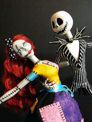 Two Intriguing Ooak Nightmare Before Christmas Dolls Goth