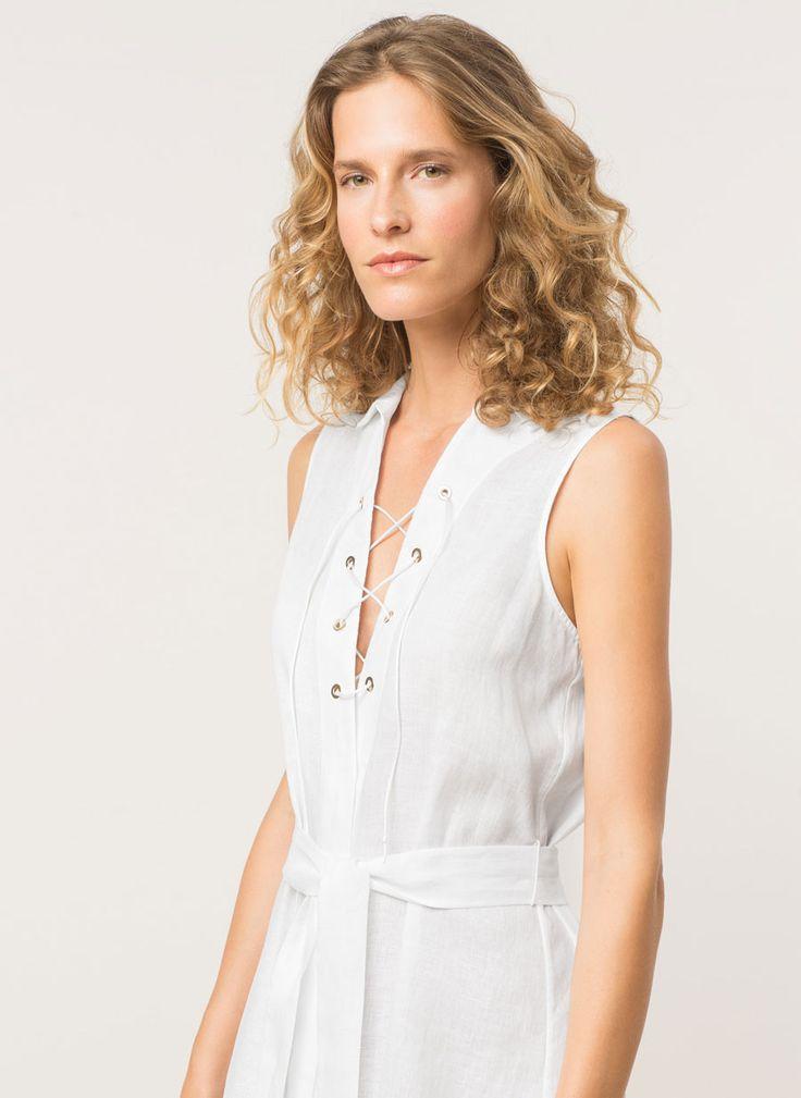 Vestido de lino - Beachwear - Colección - Uterqüe España