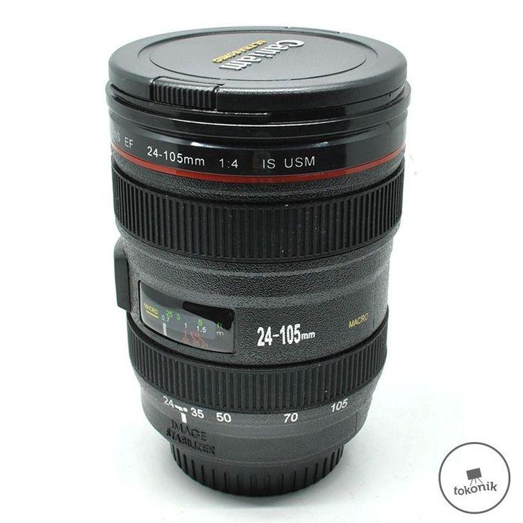 Gelas Minum Unik Bentuk Lensa Kamera Tokonik