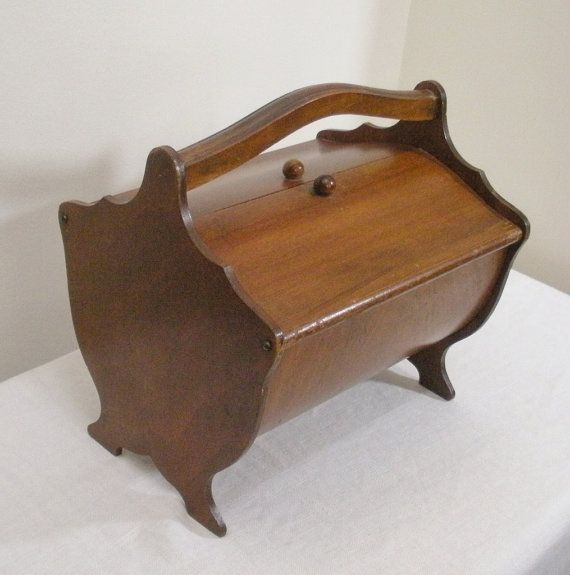 Vintage 1940s Bentwood Wooden Sewing Box...love this!!!!