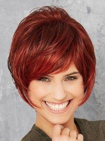 Cosmo Club Hair A #wigs #pruiken #rood #Peruca #ReadytoWear  #GiselaMayer #pittigmodel