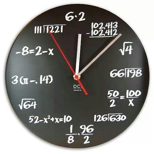 Orologio matematico #mattamatica