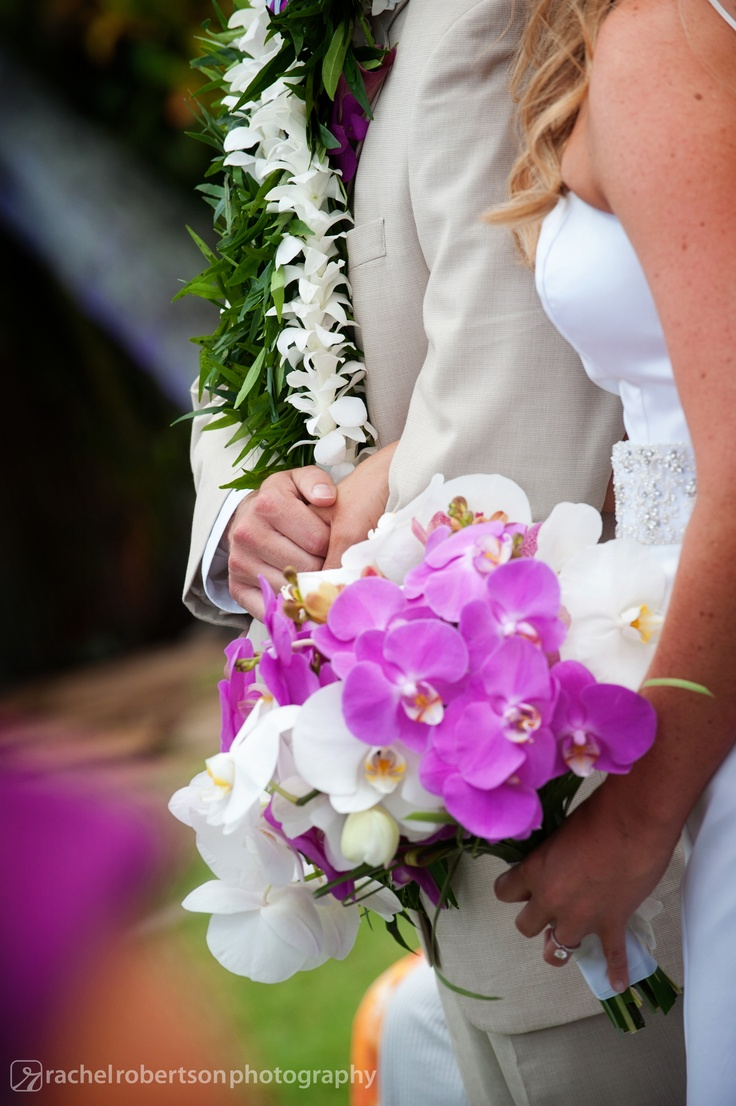 Beautiful purple and white tropical orchid bouquet ...