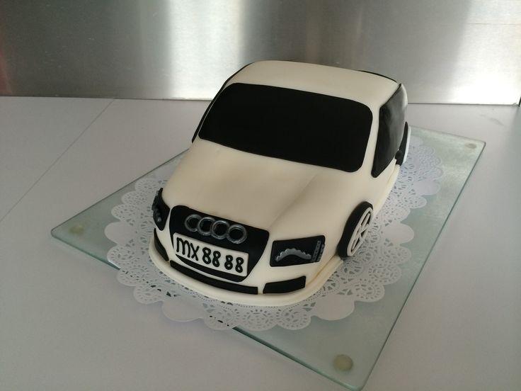 Audi auto taart