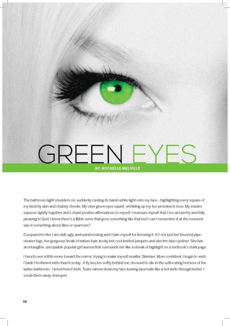 How green are your eyes?
