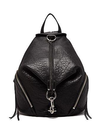 Amazing black leather backpack