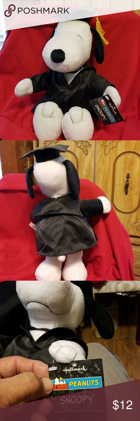 "Hallmark Snoopy stuffed animal From top to bottom he stands  16"" tall. from arm to arm is 10"" and has the original sticker of hallmark. a perfect graduation gift to someone past or present Hallmark Other"