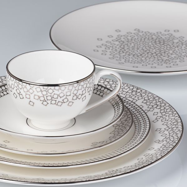 $139.95 Gluckstein Starlet Silver 5-Piece Dinnerware Place Setting by Lenox  sc 1 st  Pinterest & 73 best Dinnerware images on Pinterest | Dishes Dinner plates and ...