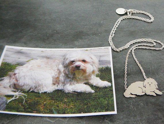 Collana ciondolo cane... Ricordo di cristallo gioielli di DiBAdog