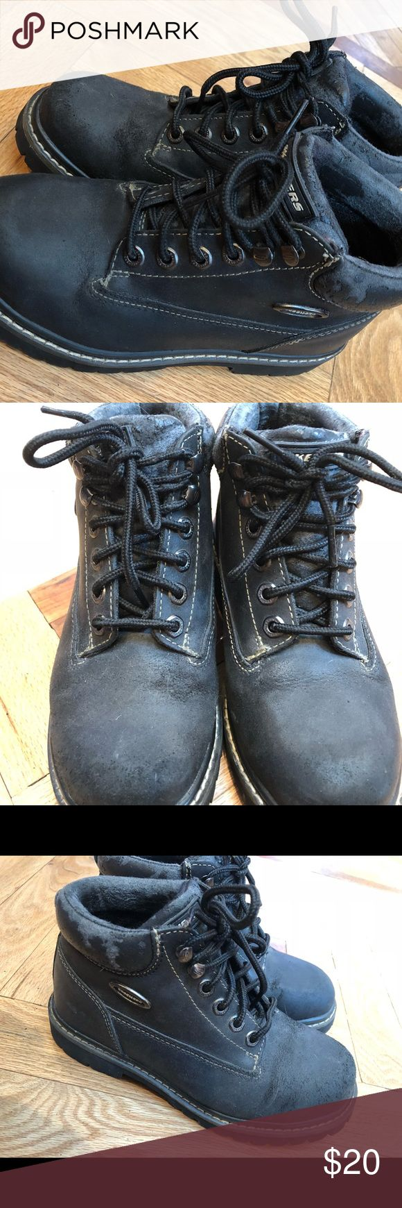 Skechers Men Combat Boots See pictures. The material is coming off- however, these are so cool- it doesn't really affect the shoe! There is wear. However, it compliments the shoe. Offers welcomed! Skechers Shoes Boots