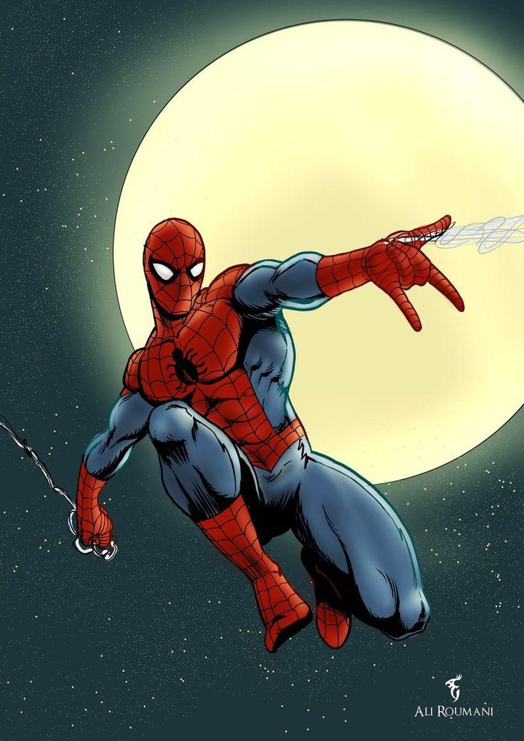 #Spiderman #Fan #Art. (Spiderman Art) By: Ali Roumani. (THE * 5 * STÅR * ÅWARD * OF: * AW YEAH, IT'S MAJOR ÅWESOMENESS!!!™)