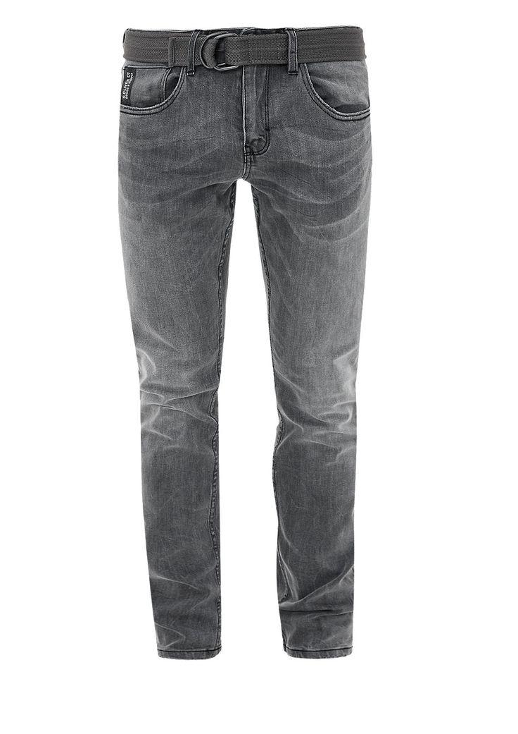 Close Slim: Graue Stretch-Jeans von s.Oliver. Entdecken Sie jetzt topaktuelle Mode für Damen, Herren und Kinder und bestellen Sie online.