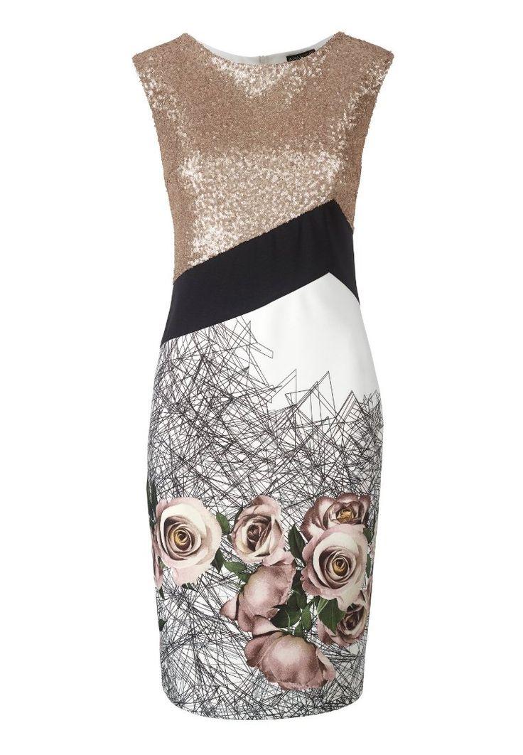 white black zalando de etuikleid elegante kleider fuer hochzeit