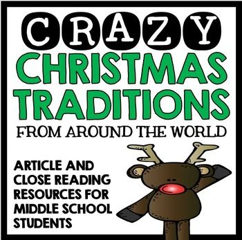 {Christmas, christmas, Close Reading, close reading, Christmas close reading}Crazy Christmas Traditions from Around the World - Close Reading Article and ResourcesAre you searching for ways to empower your students to become independent readers, learners, and thinkers?Are you searching for ways to engage struggling middle school readers with common core reading strategies?Are you on the hunt for an engaging Christmas activity that fits seamlessly into your curriculum?